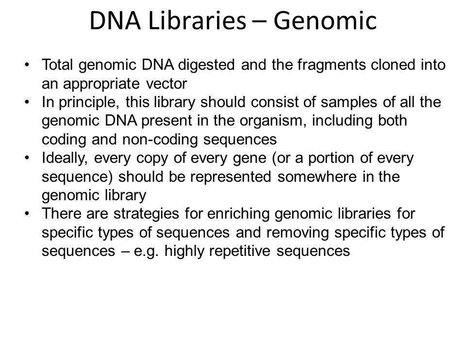 DNA Libraries – Genomic