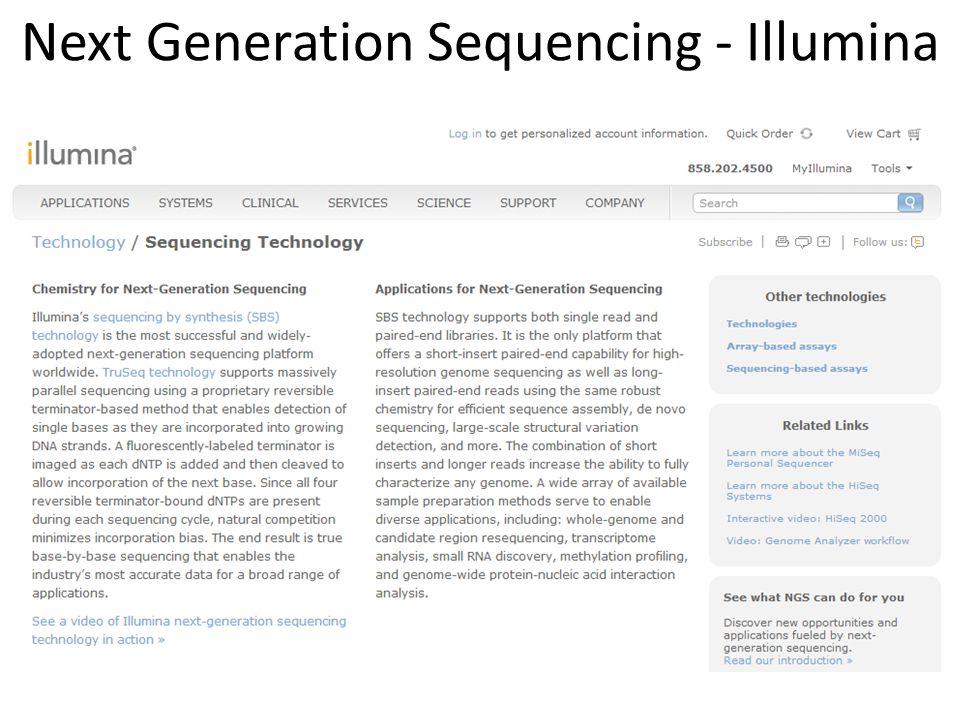 Next Generation Sequencing - Illumina