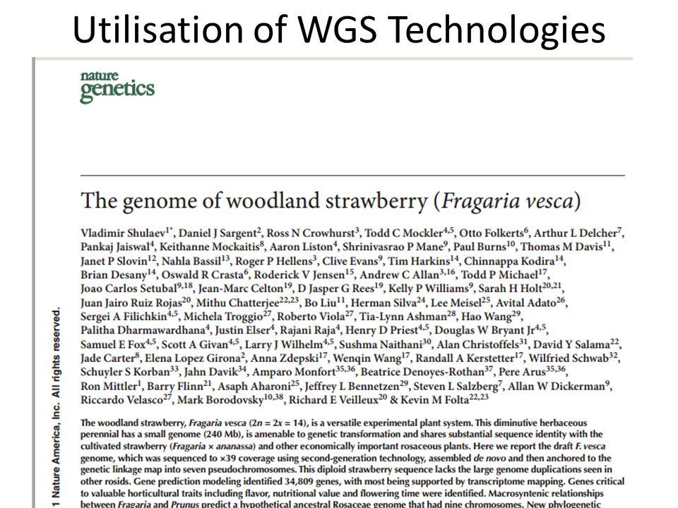 Utilisation of WGS Technologies