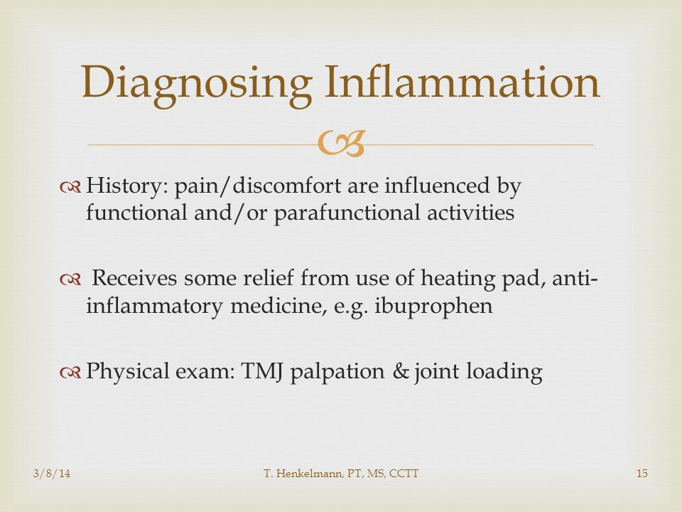 Diagnosing Inflammation