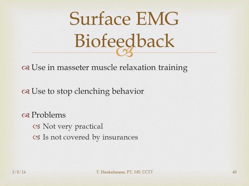 Surface EMG Biofeedback