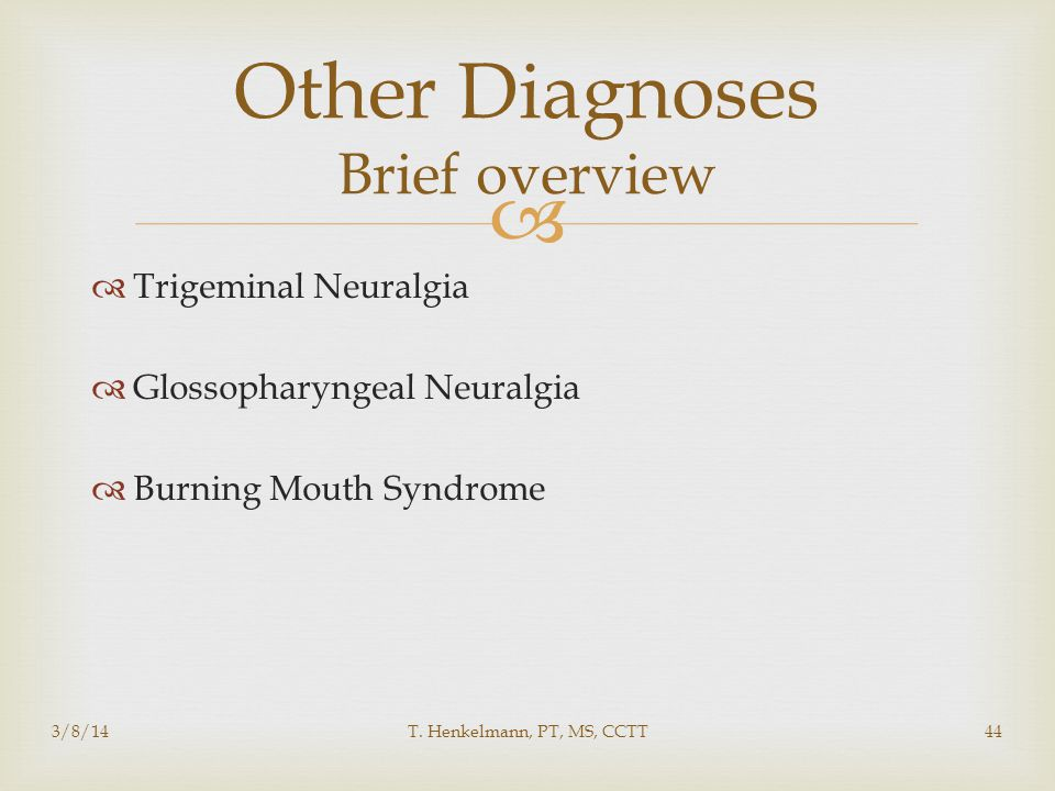 Other Diagnoses Brief overview