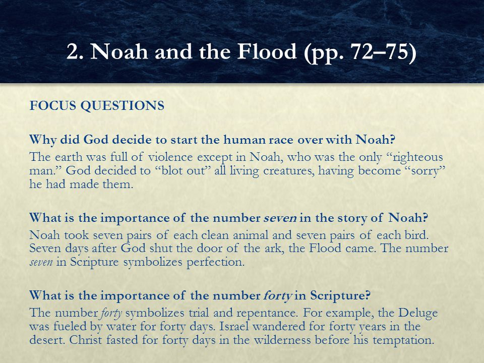 2. Noah and the Flood (pp. 72–75)