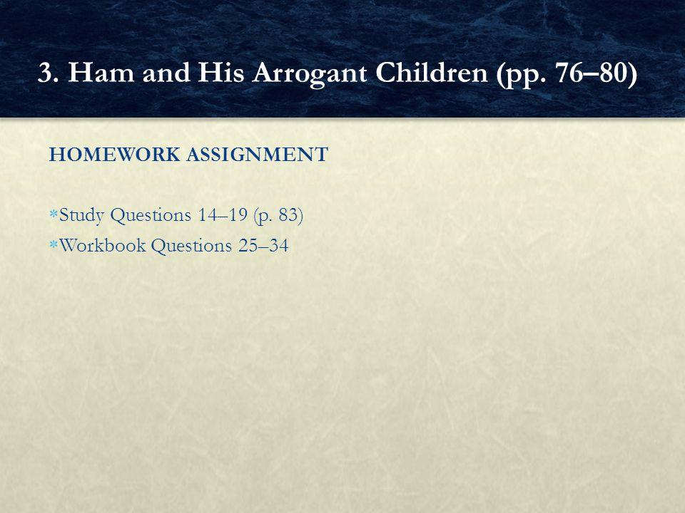 3. Ham and His Arrogant Children (pp. 76–80)