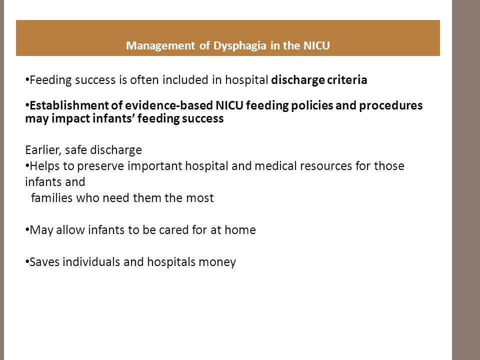 Management of Dysphagia in the NICU