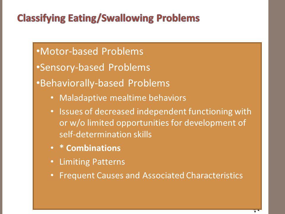 Etiologies of Feeding Problems