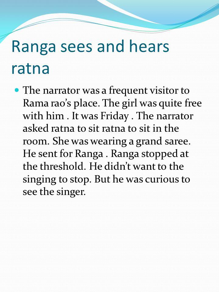 Ranga sees and hears ratna