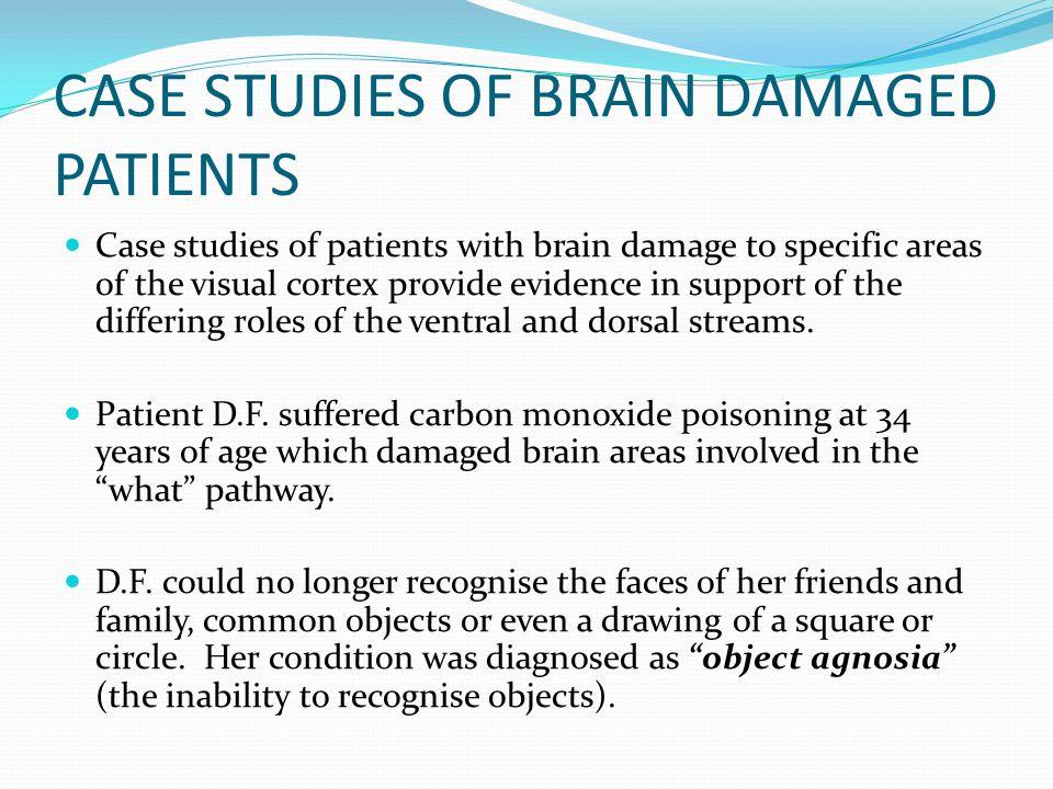 CASE STUDIES OF BRAIN DAMAGED PATIENTS