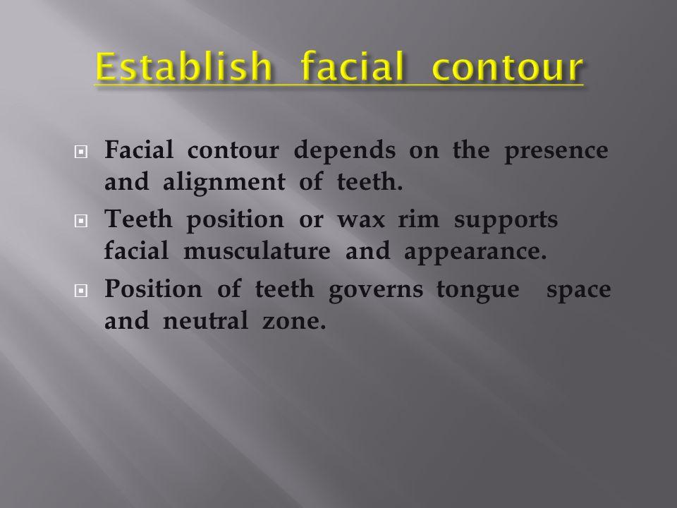 Establish facial contour