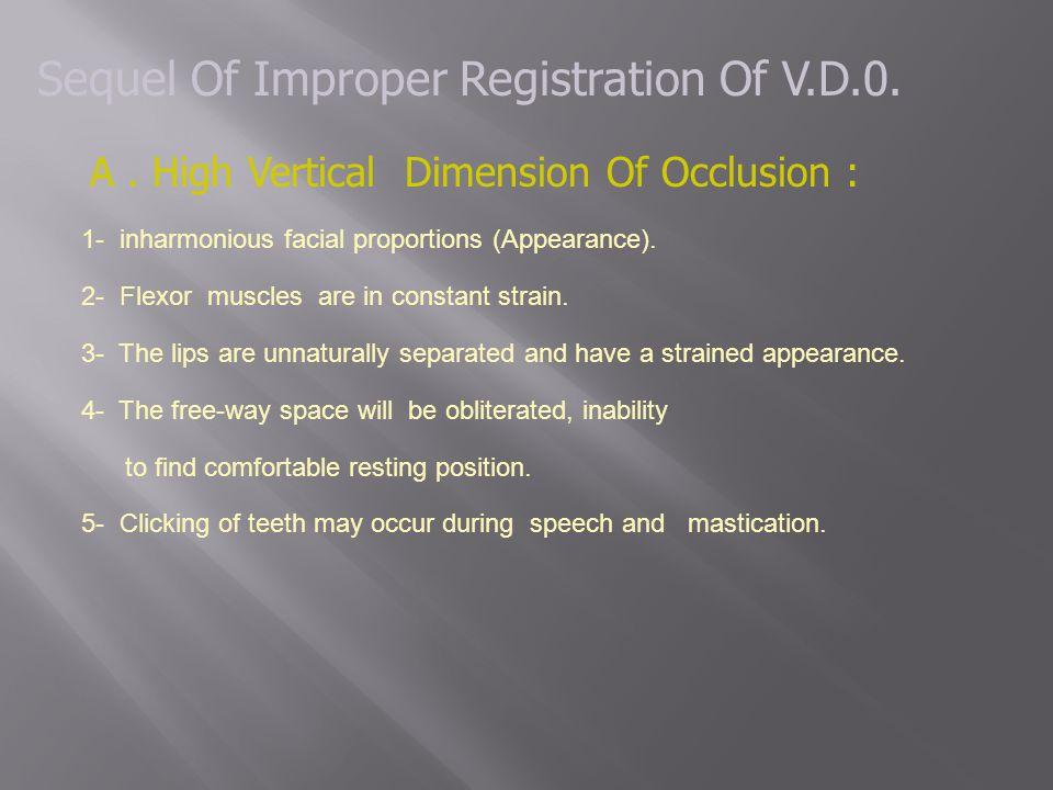 Sequel Of Improper Registration Of V.D.0.