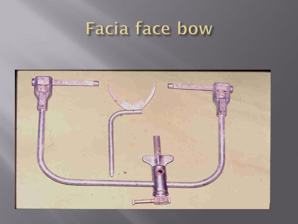 Facia face bow