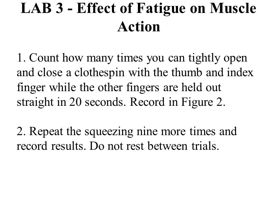 LAB 3 - Effect of Fatigue on Muscle Action