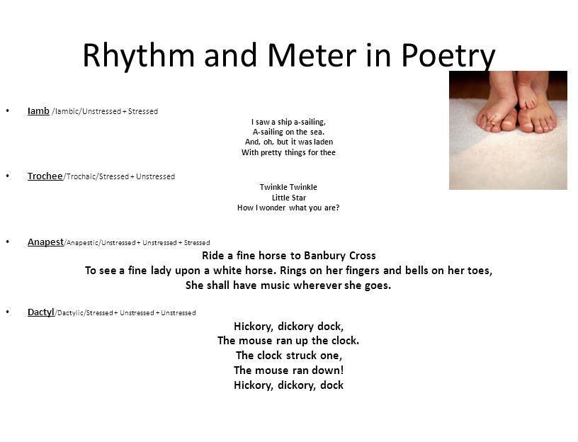 Rhythm and Meter in Poetry