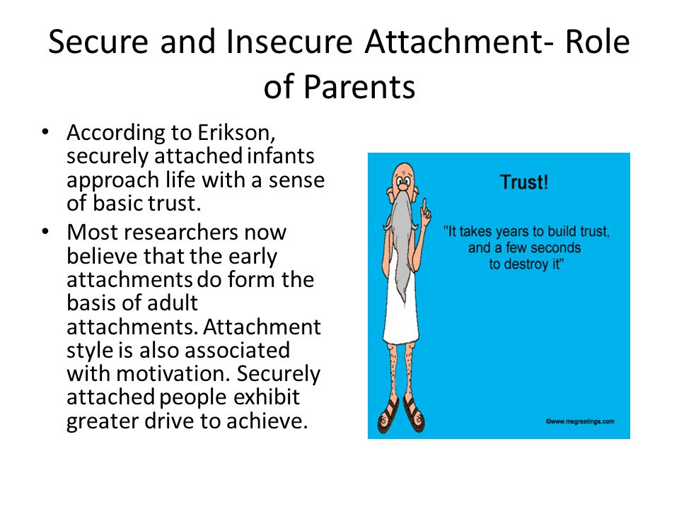 Secure and Insecure Attachment- Role of Parents