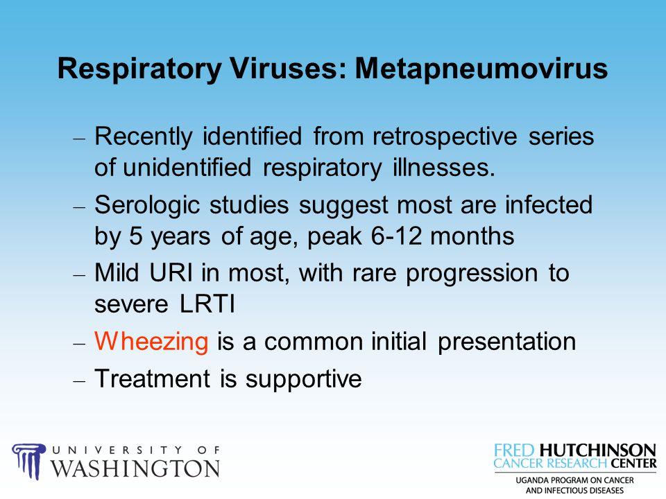 Respiratory Viruses: Metapneumovirus