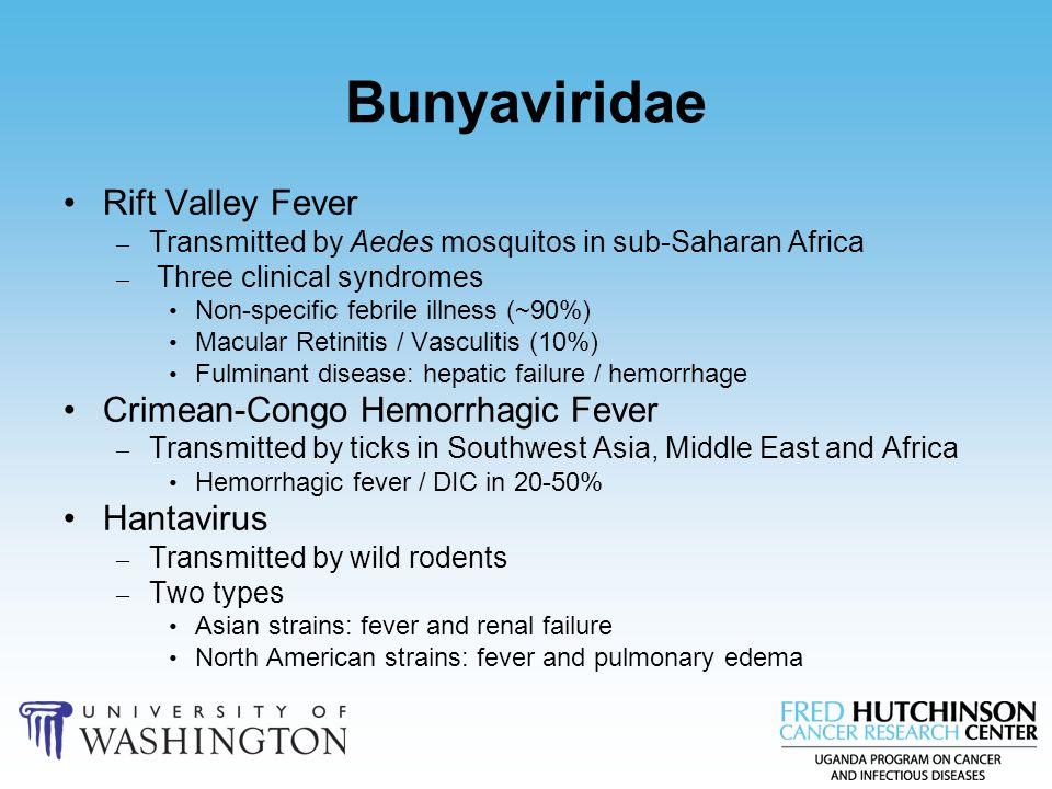Bunyaviridae Rift Valley Fever Crimean-Congo Hemorrhagic Fever