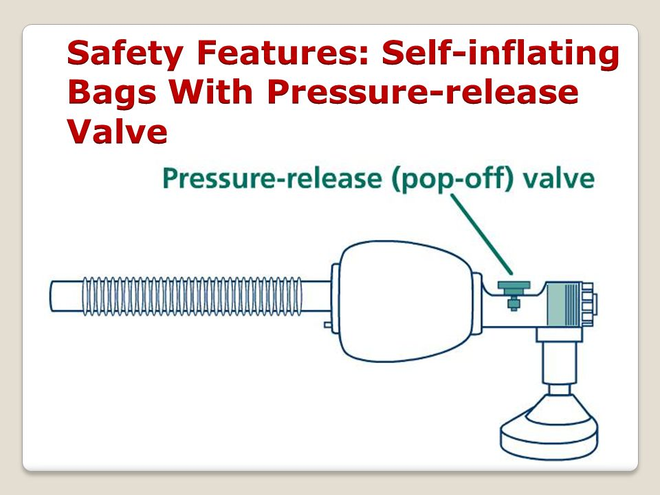 Safety Features: Self-inflating Bags With Pressure-release Valve