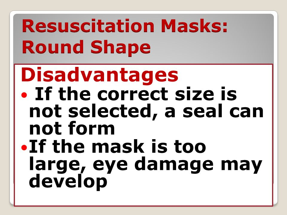 Resuscitation Masks: Round Shape