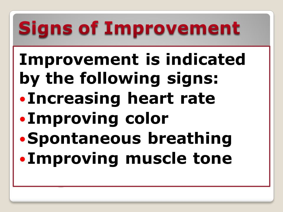 Signs of Improvement Signs of Improvement
