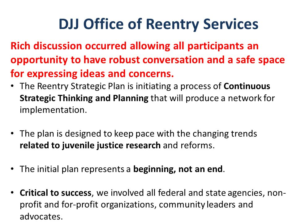 DJJ Office of Reentry Services