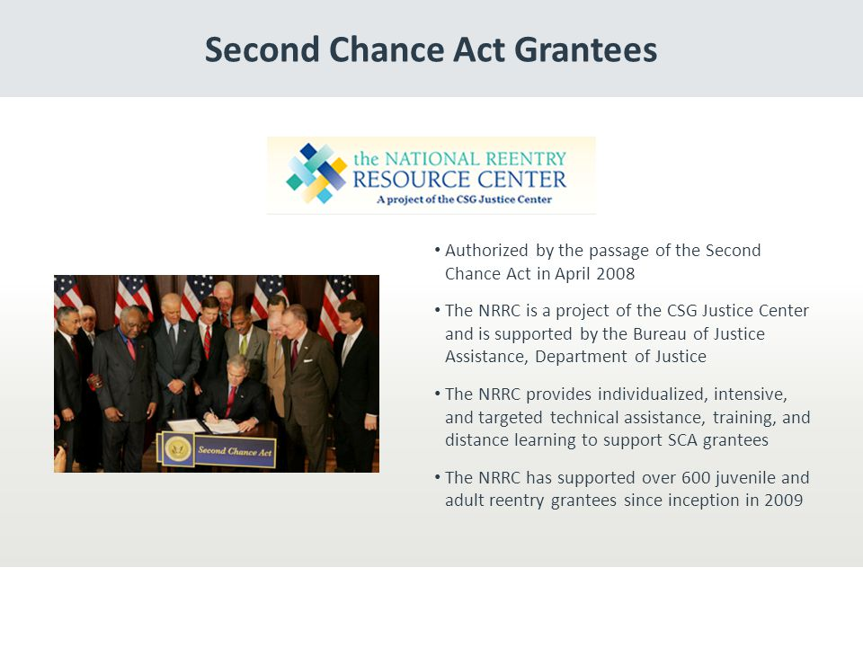 Second Chance Act Grantees