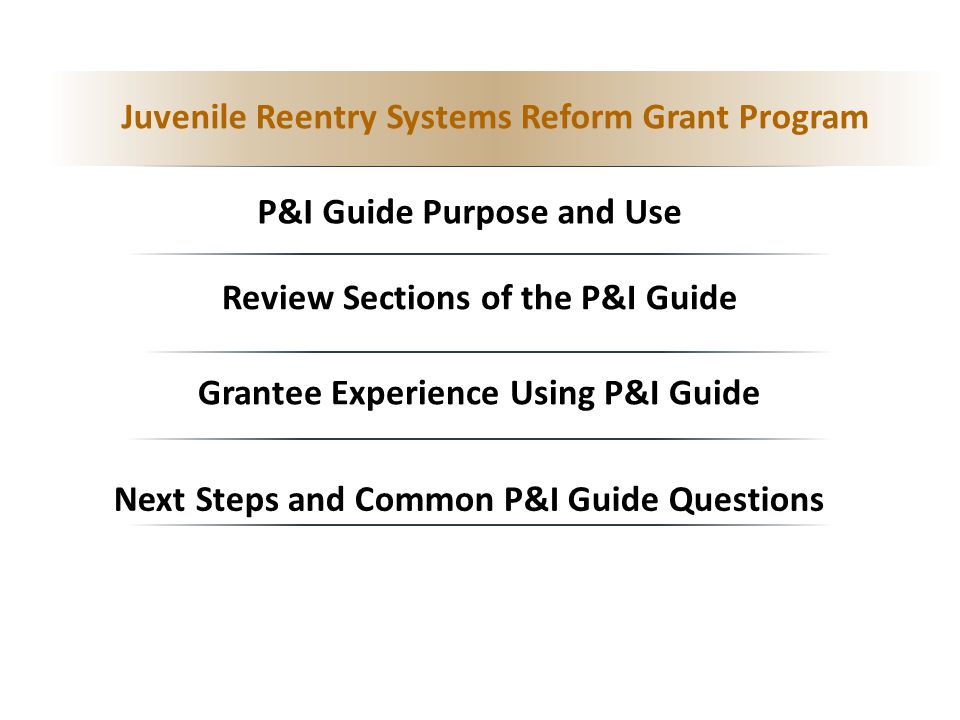 Juvenile Reentry Systems Reform Grant Program