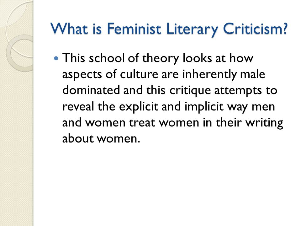 What is Feminist Literary Criticism