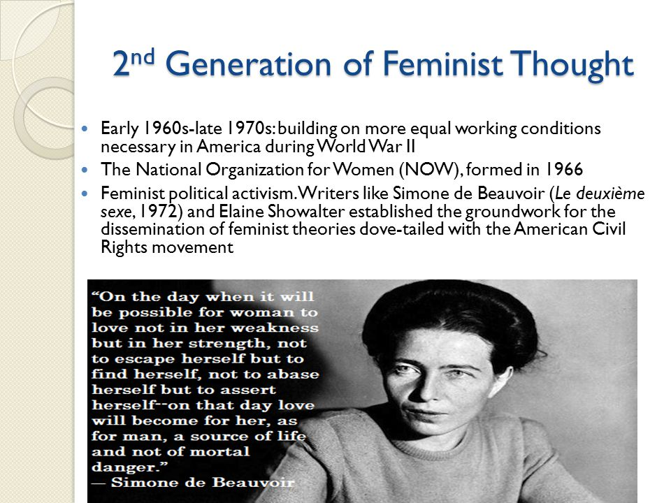 2nd Generation of Feminist Thought