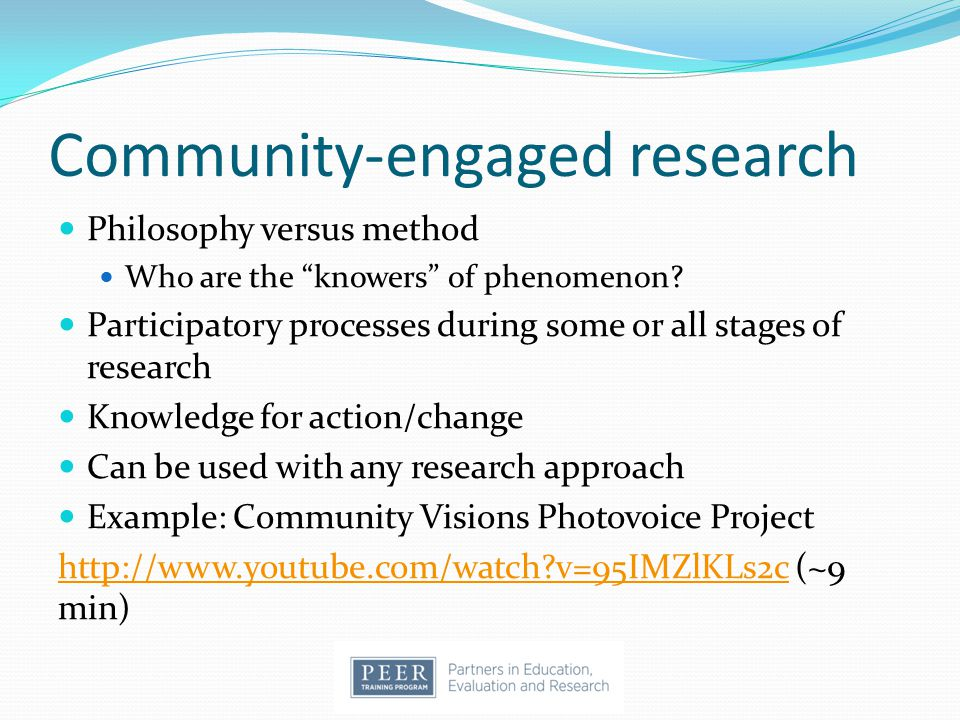 Community-engaged research
