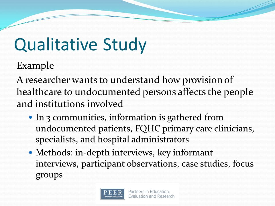 Qualitative Study Example