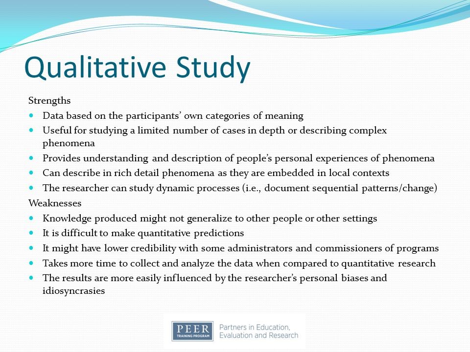 Qualitative Study Strengths