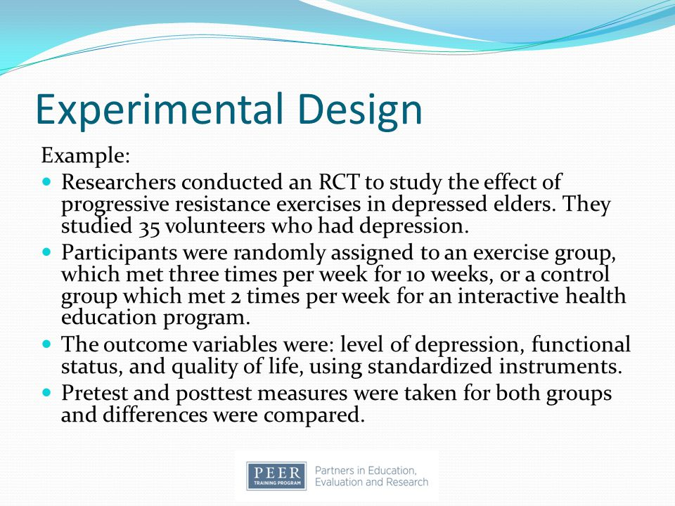 Experimental Design Example:
