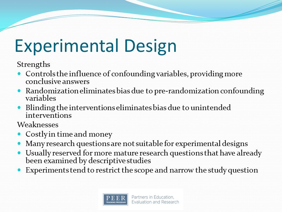 Experimental Design Strengths