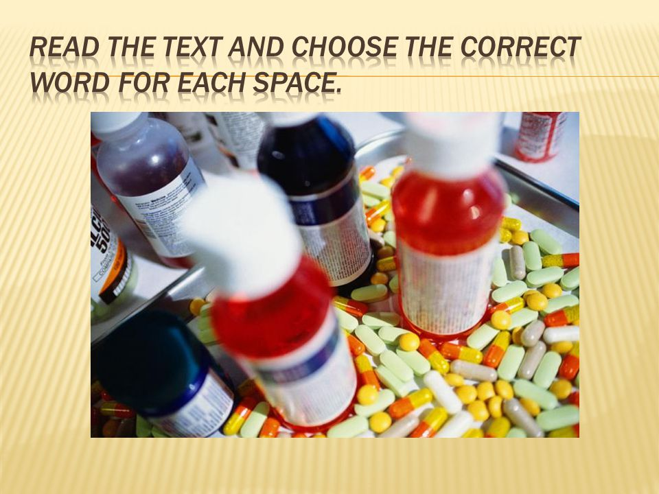 Read the text and choose the correct word for each space.