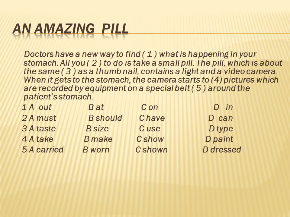 An Amazing Pill