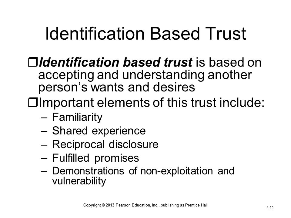 Identification Based Trust
