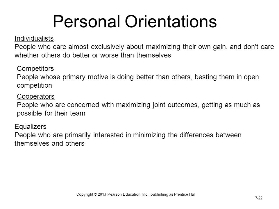 Personal Orientations