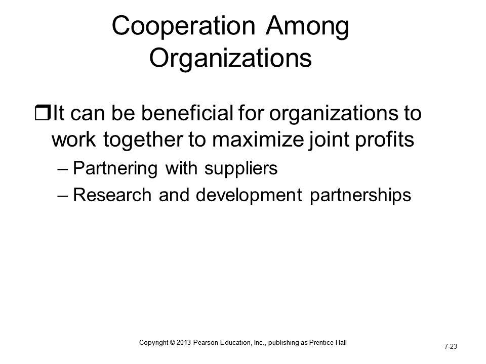 Cooperation Among Organizations