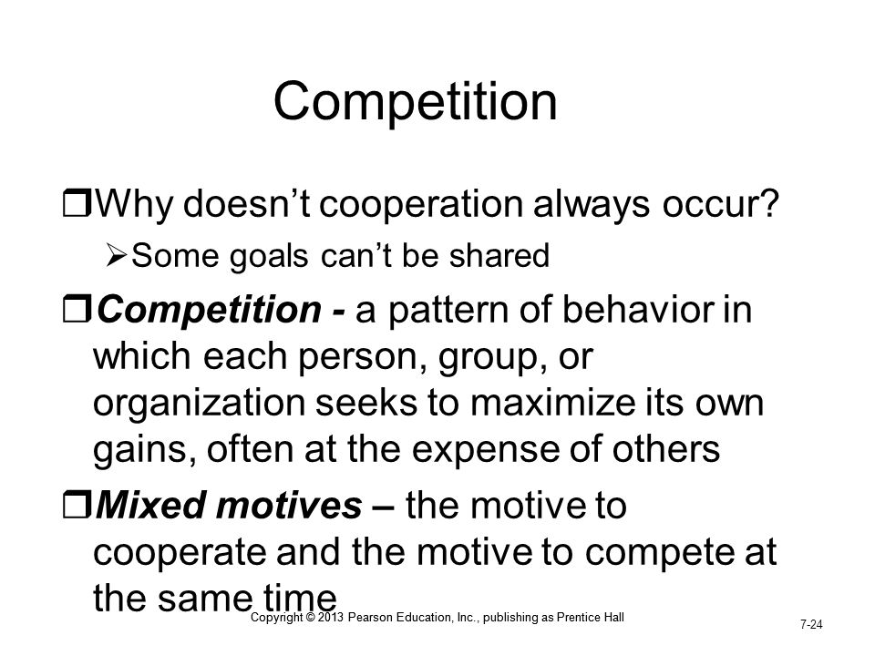 Competition Why doesn't cooperation always occur