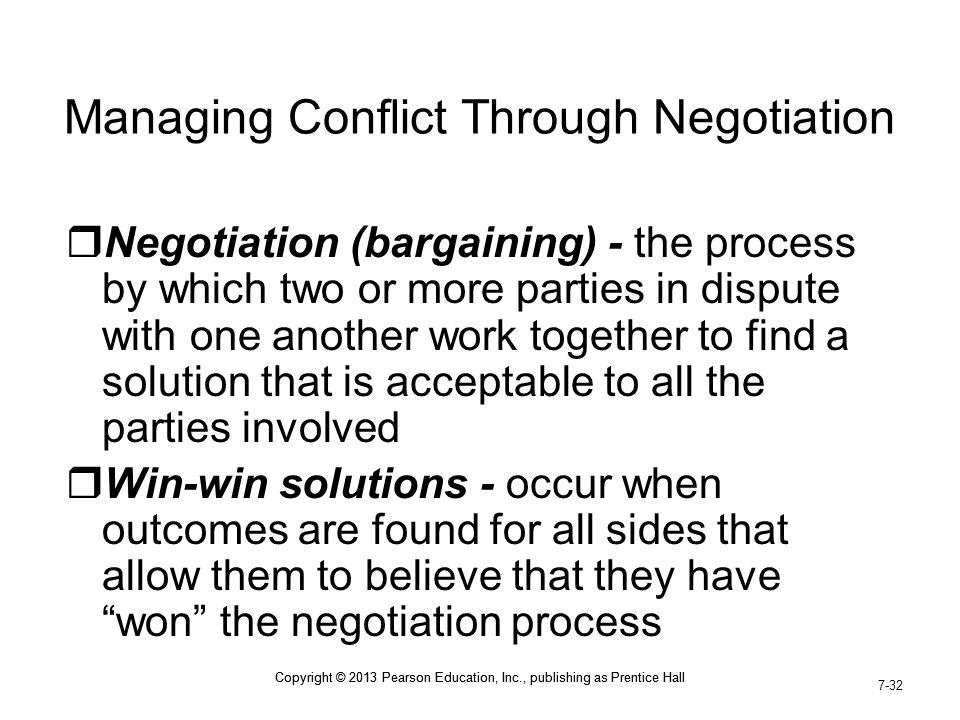 Managing Conflict Through Negotiation