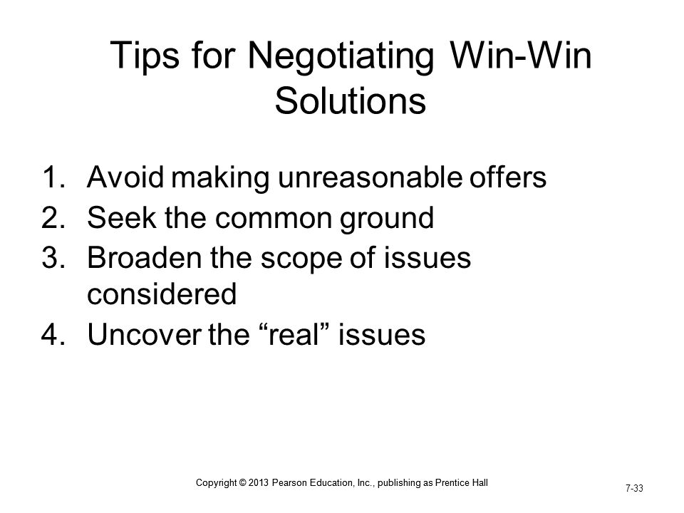 Tips for Negotiating Win-Win Solutions