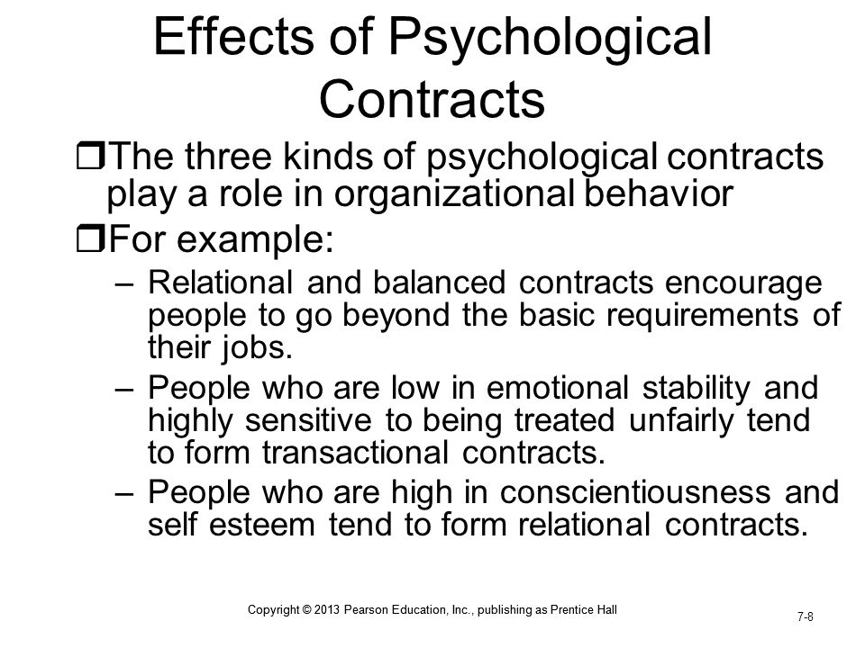 Effects of Psychological Contracts