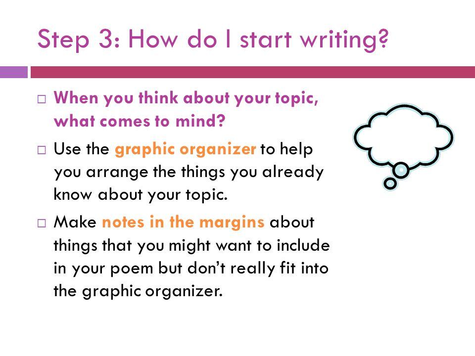 Step 3: How do I start writing