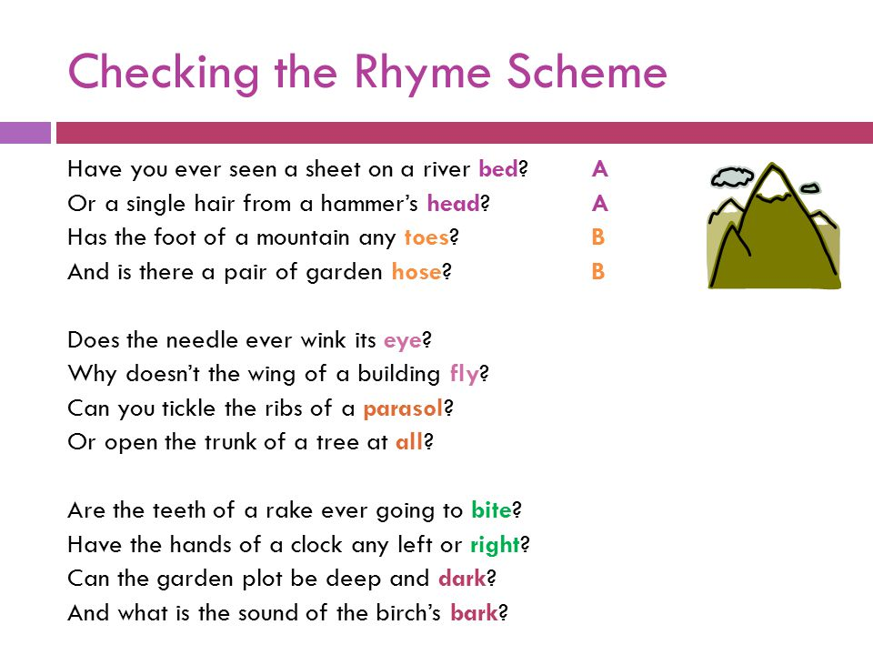 Checking the Rhyme Scheme