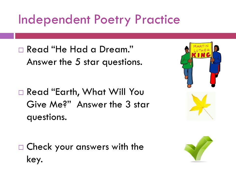 Independent Poetry Practice