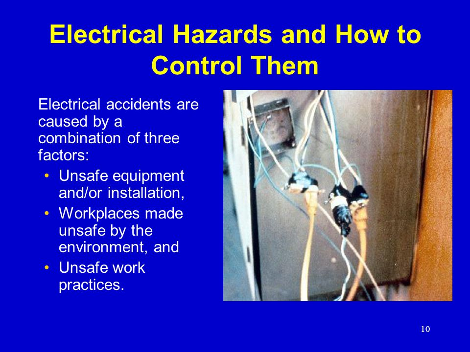 Electrical Hazards and How to Control Them