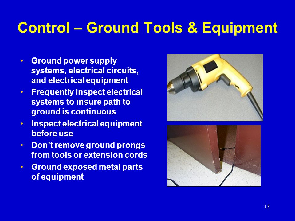Control – Ground Tools & Equipment