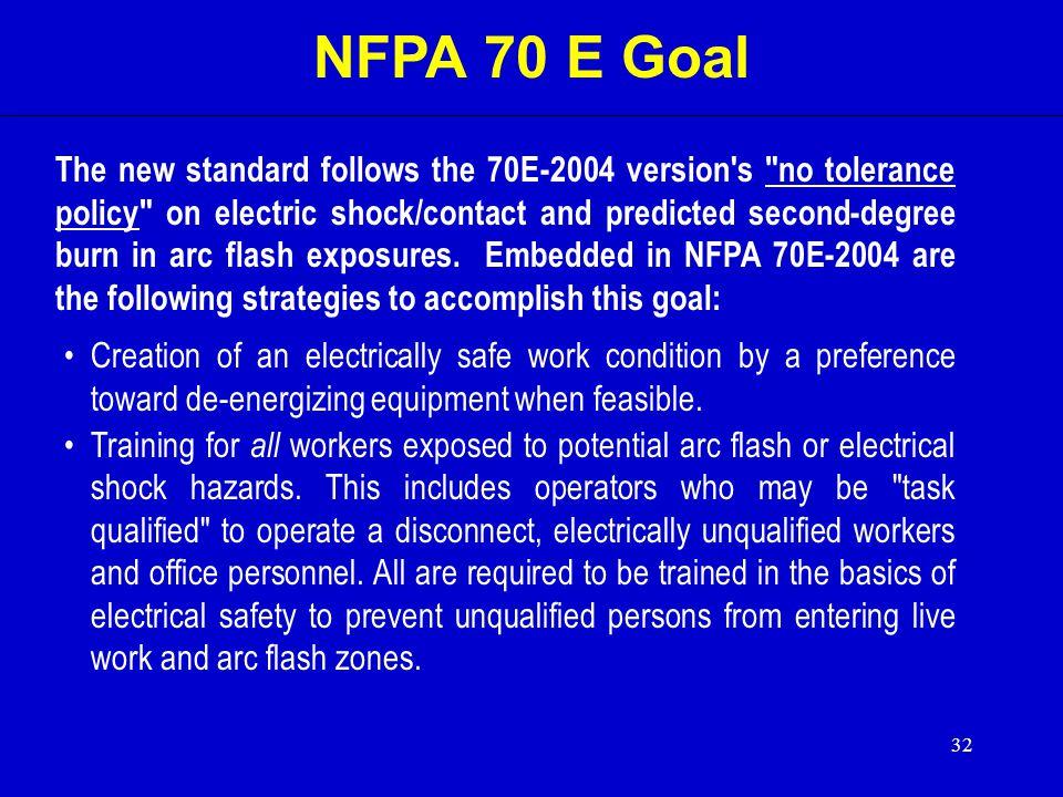 NFPA 70 E Goal