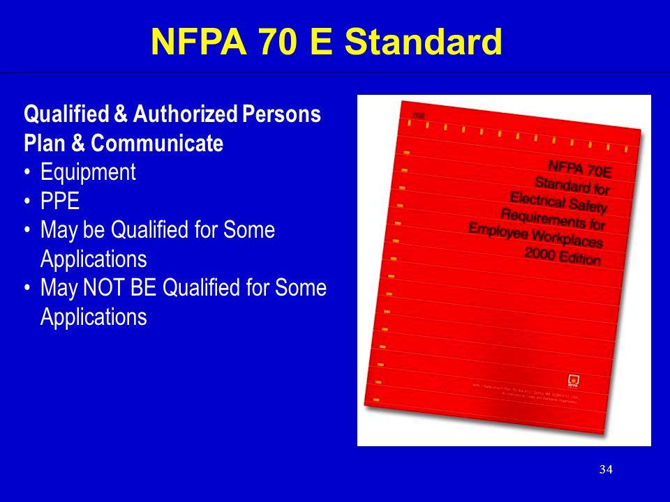 NFPA 70 E Standard Qualified & Authorized Persons Plan & Communicate