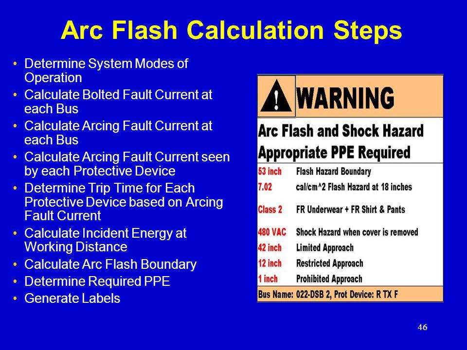 Arc Flash Calculation Steps